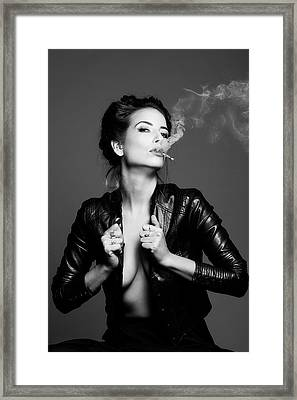 Smoking..... Framed Print