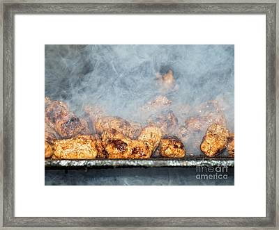 Smoky Barbecue Framed Print by Sinisa Botas