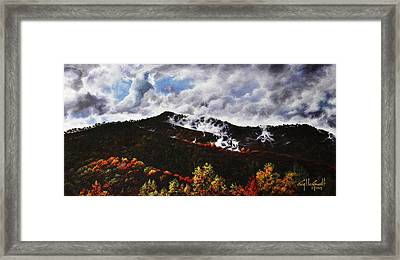 Smoky Mountain Angel Hair Framed Print
