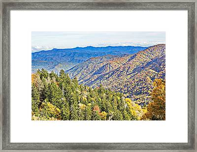 Smoky Mountain Autumn Vista Framed Print