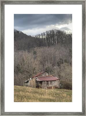 Smoky Mountain Barn 1 Framed Print by Douglas Barnett