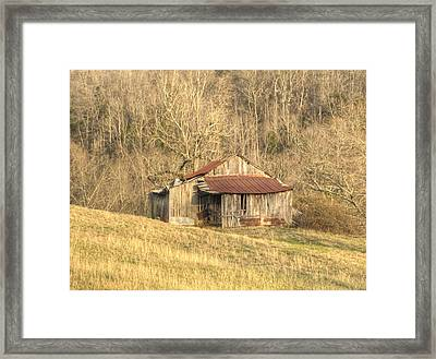 Smoky Mountain Barn 11 Framed Print by Douglas Barnett
