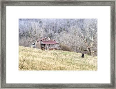 Smoky Mountain Barn 2 Framed Print by Douglas Barnett