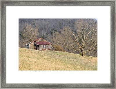 Smoky Mountain Barn 5 Framed Print by Douglas Barnett
