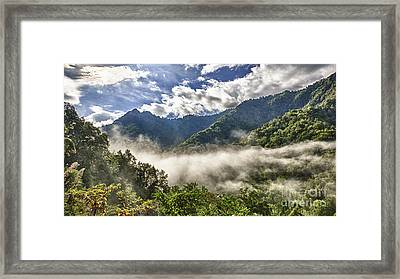 Smoky Mountain Chimney Tops Framed Print