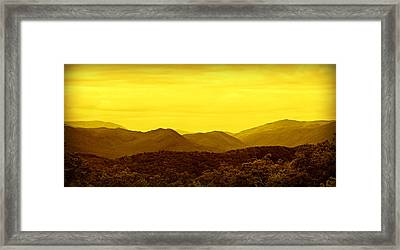 Smoky Mountain Glow Framed Print by Stephen Stookey