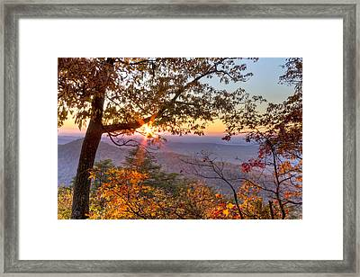 Smoky Mountain High Framed Print by Debra and Dave Vanderlaan
