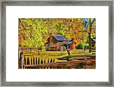 Framed Print featuring the photograph Smoky Mountain Homestead by Kenny Francis