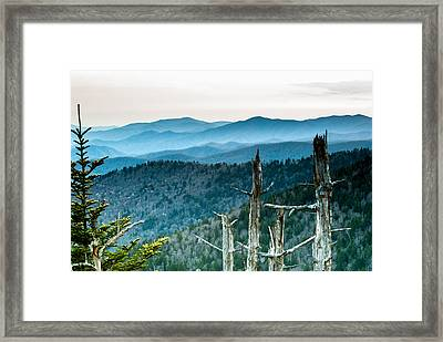 Smoky Mountain Overlook Framed Print