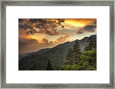 Smoky Mountain Sky Framed Print