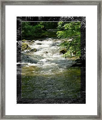 Smoky Mountain Stream - B Framed Print by Robert Clayton