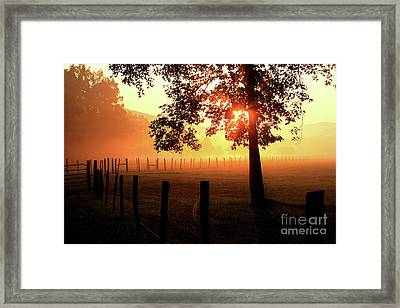 Smoky Mountain Sunrise Framed Print