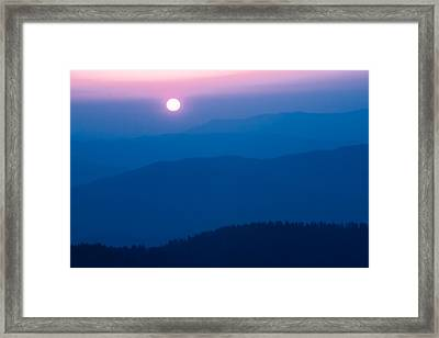 Framed Print featuring the photograph Smoky Mountain Sunrise by Jay Stockhaus