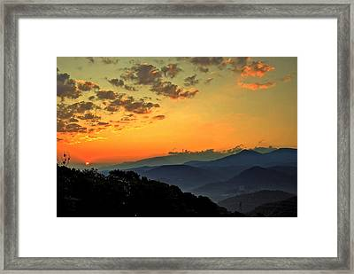Smoky Mountain Sunrise Framed Print by Frozen in Time Fine Art Photography
