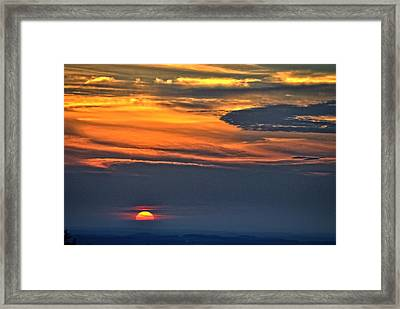 Smoky Mountain Sunset 1 Framed Print
