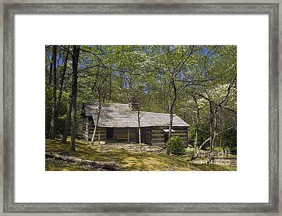 Smoky Mountains Hiking Club Cabin - D008449 Framed Print by Daniel Dempster