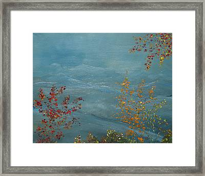 Smoky Mountains In Autumn Framed Print by Judith Rhue