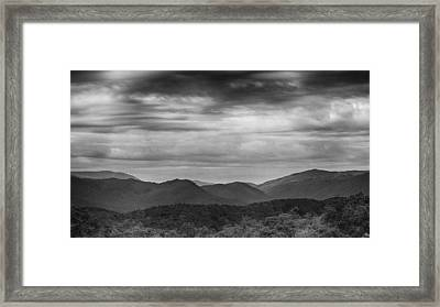 Smoky Mountains In Bw Framed Print