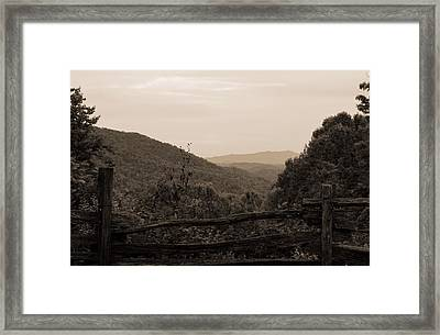 Smoky Mountains Lookout Point Framed Print by Dan Sproul
