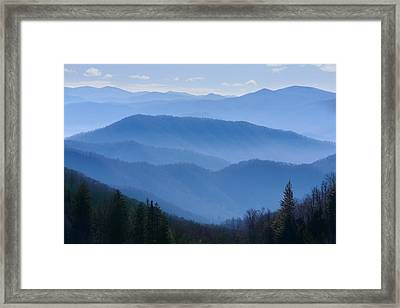 Smoky Mountains Framed Print by Melinda Fawver