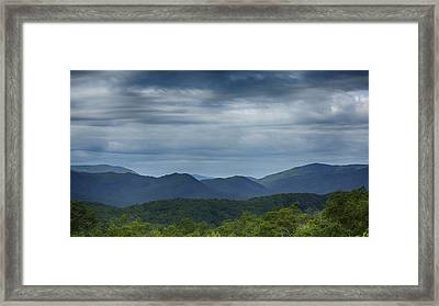 Smoky Mountains Morning Clouds Framed Print by Stephen Stookey