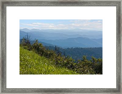 Smoky Mountains View Framed Print by Melinda Fawver