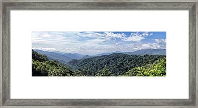 Smoky Mountains Vista Framed Print by Cricket Hackmann