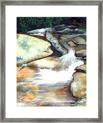 Smoky Mountains Waterfall Framed Print