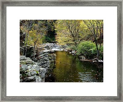 Smoky Mountian River Framed Print by Sandy Keeton
