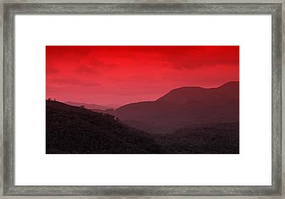 Smoky Mountians Red Framed Print by Stephen Stookey