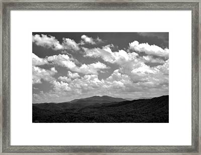 Smoky Peaks And Sky 2 Framed Print