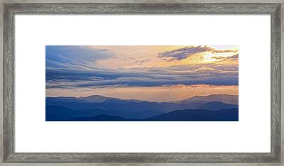 Framed Print featuring the photograph Smoky Rise by David Stine