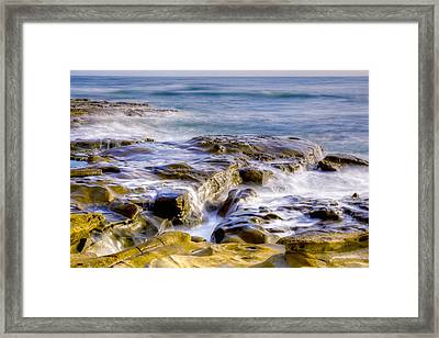 Smoky Rocks Of La Jolla Framed Print