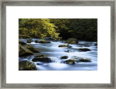 Smoky Stream Framed Print by Chad Dutson