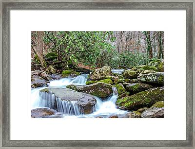 Smoky Stream Framed Print