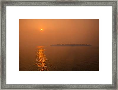 Smoky Sunrise Framed Print by Dan Vidal