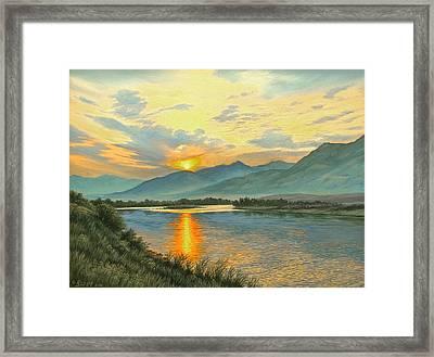 Smoky Sunrise-yellowstone River   Framed Print by Paul Krapf