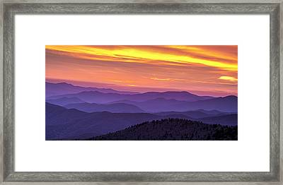 Smoky Sunset Panorama Framed Print by Andrew Soundarajan