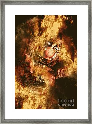Smoky The Voodoo Clown Doll  Framed Print
