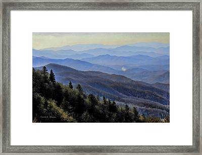 Framed Print featuring the photograph Smoky Vista by Kenny Francis