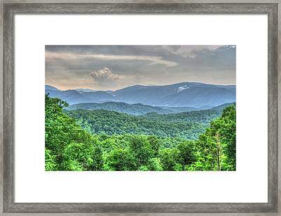 Smoky Vista Framed Print by Mark Bowmer
