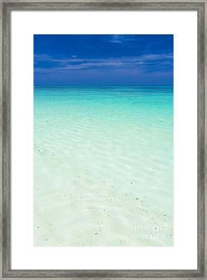 Smooth Clear Sea Framed Print