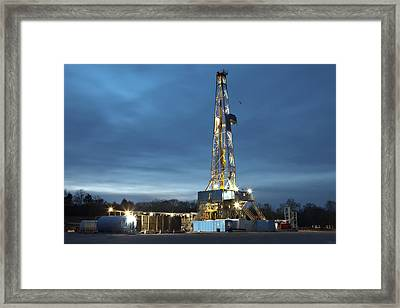 Smooth Drilling Framed Print