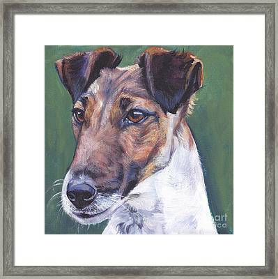 Smooth Fox Terrier Framed Print by Lee Ann Shepard
