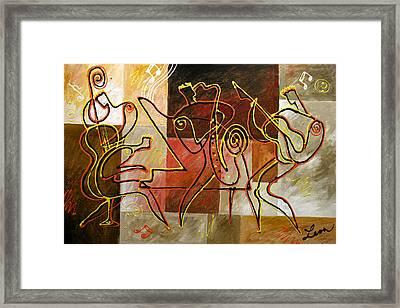 Smooth Jazz Framed Print by Leon Zernitsky