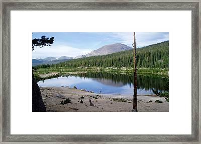 Smooth Lake Reflection Framed Print