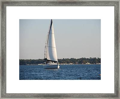 Smooth Sailing Carolina Framed Print