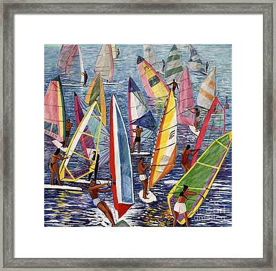 Smooth Sailing Framed Print by Komi Chen
