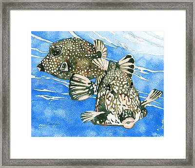 Smooth Trunkfish Pair Framed Print