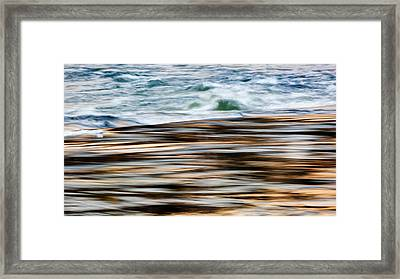Smooth Water Rapids Framed Print